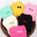 Natal 10 pares meias das Mulheres Doces Bordados Bowknot Meias de Inverno Espessamento Térmica Meias Toalha meias de Lã de Coral