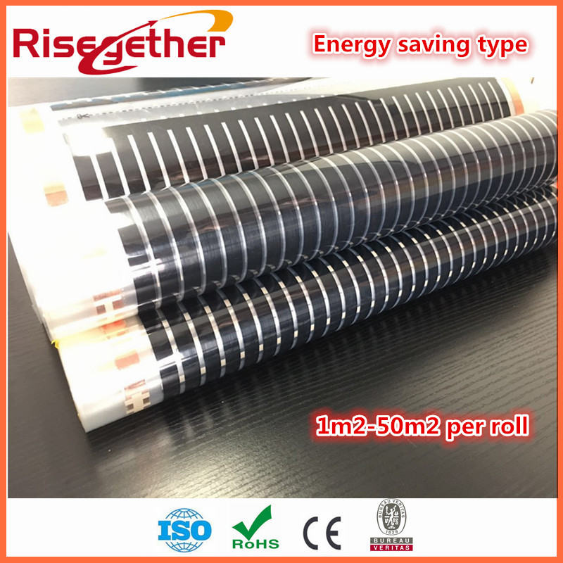 High quality 2square meters Far infrared ray 50cm x 4m AC220V carbon fiber warm laminate floor heating film for underfloor