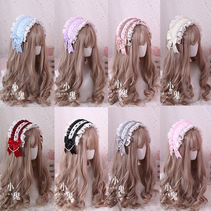 Multicolor Hand Made Lolita Headband Gorgeous Lace Hairband Soft Sister Hair Accessories Lolita Angel Handle Kc Hair Bands