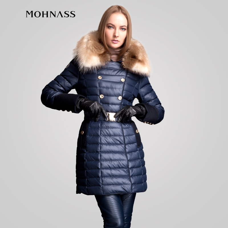 buy online 4a2fb 2c54b MOHNASS 2015 Inverno Donna parka in Piuma D'oca Giacca ...