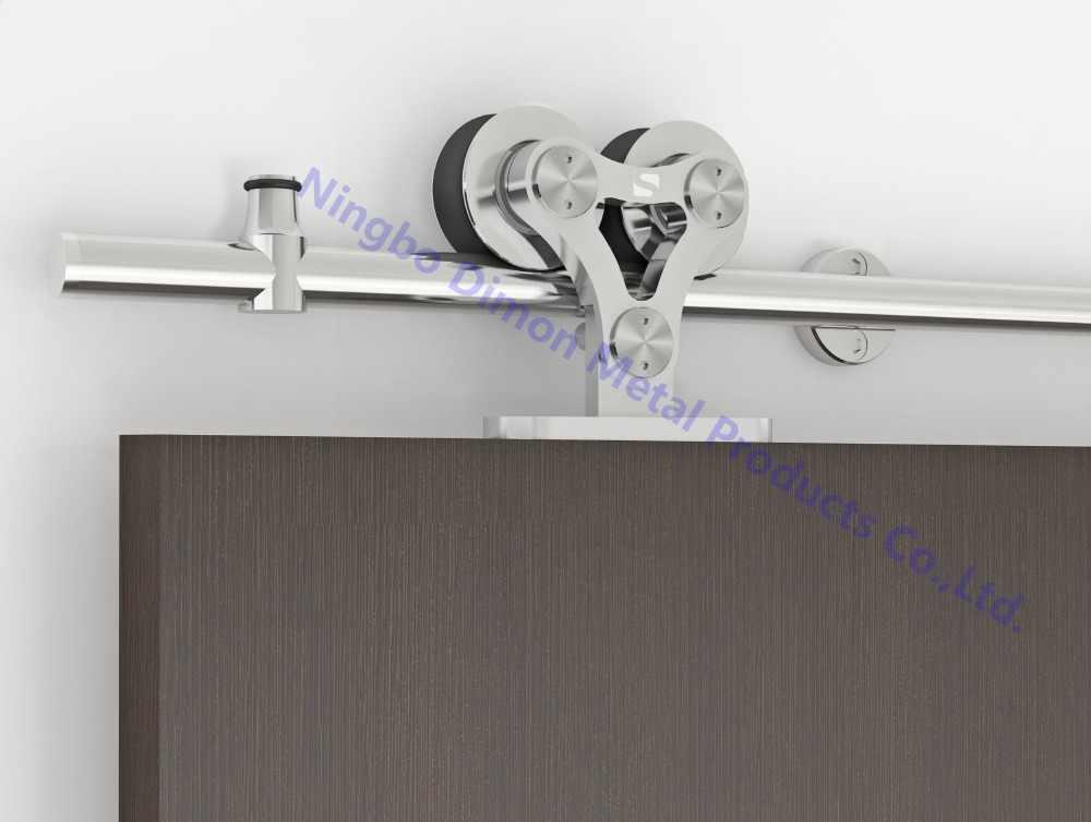 Бесплатная доставка Dimon SUS 304 пятен высокого качества Две деревянная голова раздвижные двери оборудование DM-SDS 7102 без раздвижных рельсов