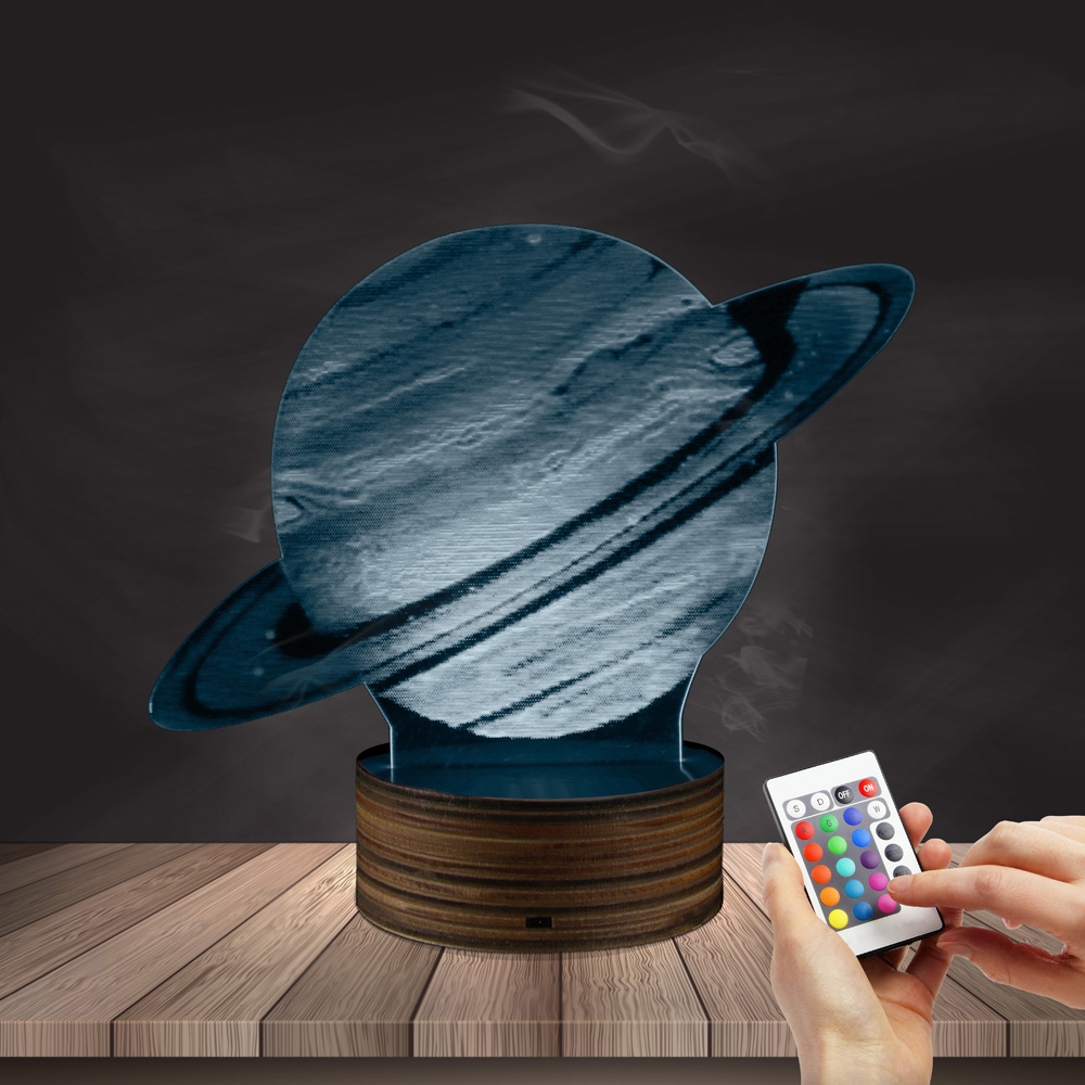 1Piece 3D Effect Planet Jupiter 3D illusion Night Lamp Planet Moon Table Lamp Creative Bedroom Decorative LED Night Light 3d конструктор green planet голова снежного барана кв синий