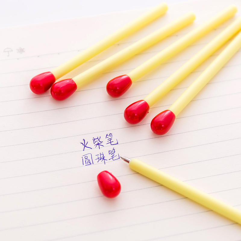 10 pcs lot Cute Matchstick Ballpoint Pen Mini Kawaii Ball Pens for Kids Novelty Gift Prize School Supplies Stationery Promotions in Ballpoint Pens from Office School Supplies