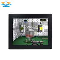 19 19 Inch LED Industrial Panel PC with 5 Wire Resistive Touch Screen Windows 7/10/Linux Ubuntu Intel Celeron 3855U Partaker Z16T (2)