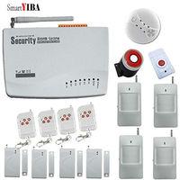 SmartYIBA Pilot Potrójne pasma częstotliwości Domu Bezprzewodowy System Alarmowy GSM Alarma Dymu/Ogień Czujnik Ruchu Alarm Kit