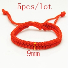 5pcs/lot 9mm Fashion Red String Bracelet Handmade Accessories Honey Lovers Gift