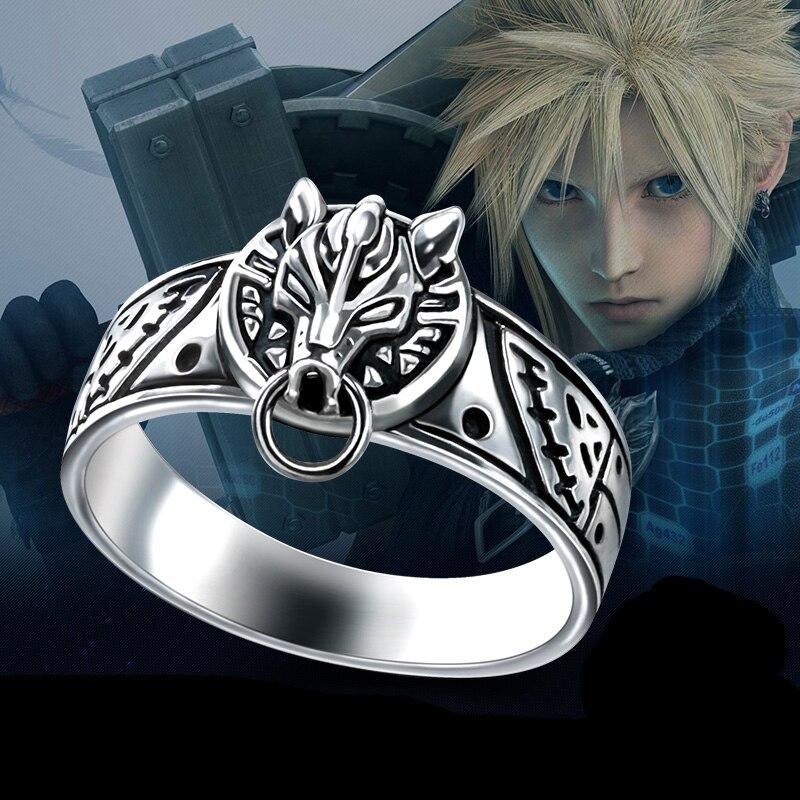 Final Fantasy Ring 925 argent jeu loup Vintage hommes femmes anneaux Costume mâle bijoux cadeau pour nouvel an anniversaire