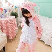 Fotografia Kid Chłopcy Dziewczyny Party PREZENT Ubrania Kapturem Piżamy Pijamas Piżamy Flanelowe Piżamy Dla Dzieci Cartoon Zwierząt świnia Cosplay