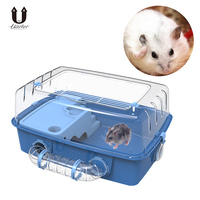 UARTER Creative Plastic Plat Hamster Exercise Toy Mouse Rat Mice Cage Accessories Sports Running Spinner Wheel Pet Hamster Toys