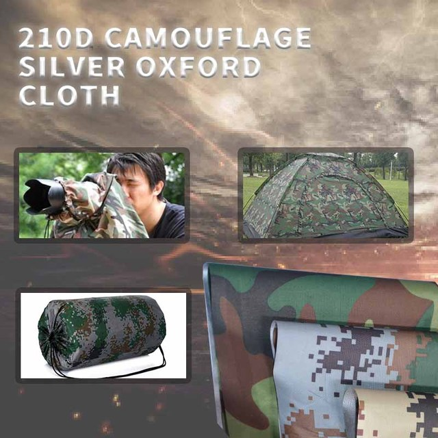 Breed 150 cm Oxford doek camouflage gedrukt PU zilver waterdichte ...