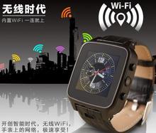 สีแดงเข้มบราเดอร์M8สมาร์ทนาฬิกาหนังสายนาฬิกาข้อมือwifi3Gเครือข่ายdual standbyซูเปอร์