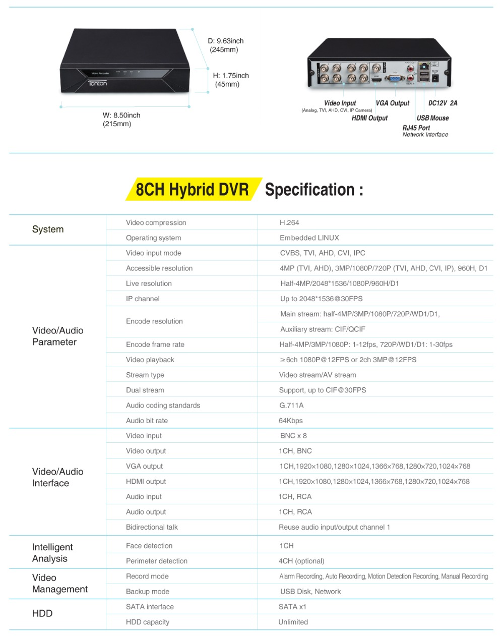 home video system D5208HH_