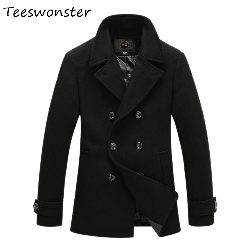 Online Get Cheap Mens Black Wool Peacoat -Aliexpress.com | Alibaba ...