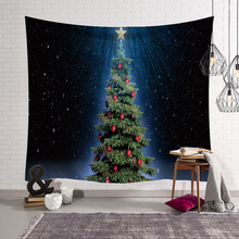 christmas decorations santa deer tapestry wall hanging boho tapestry for home decor - Boho Christmas Decor