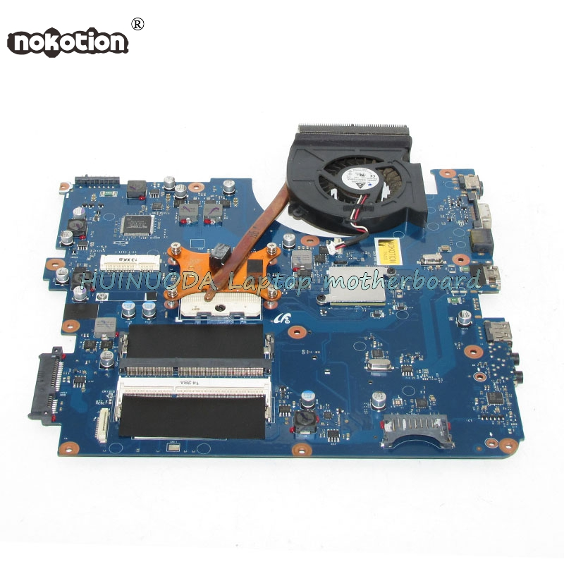 NOKOTION Laptop Motherboard for Samsung R540 NP-R540 Mainboard BA92-06785A BA41-01219A BREMEN-C HM55 DDR3 free heatsink ba92 05127a ba92 05127b laptop motherboard for samsung np r60 r60 ddr2 intel ati rs600me mainboard