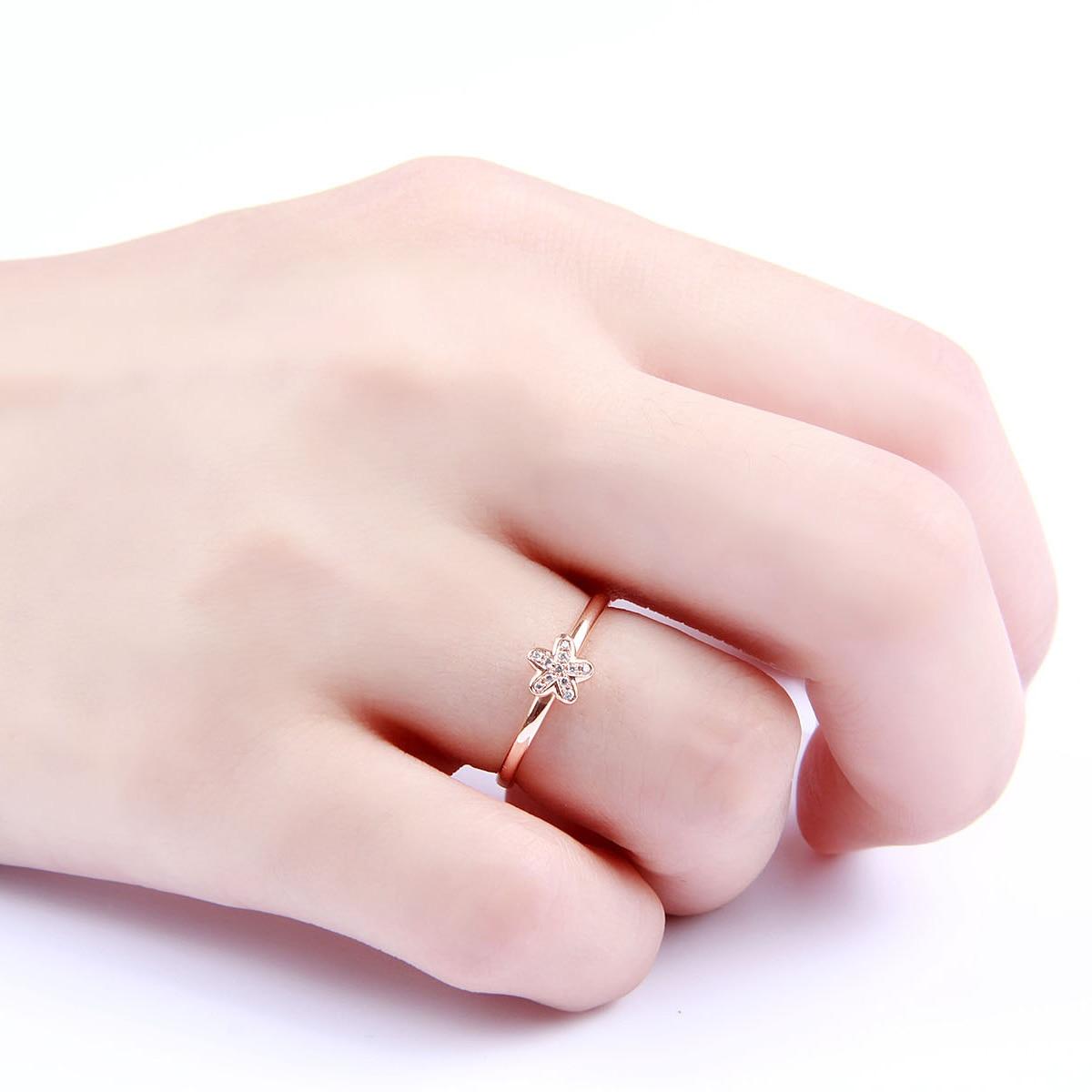 Aliexpress.com : Buy 18K Gold Diamond Ring Gold Diamond Ring Small ...