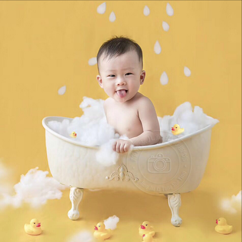Newborn Baby Photograph Props Shower Bathtub Infant Photo Studio Posing Basket Accessories