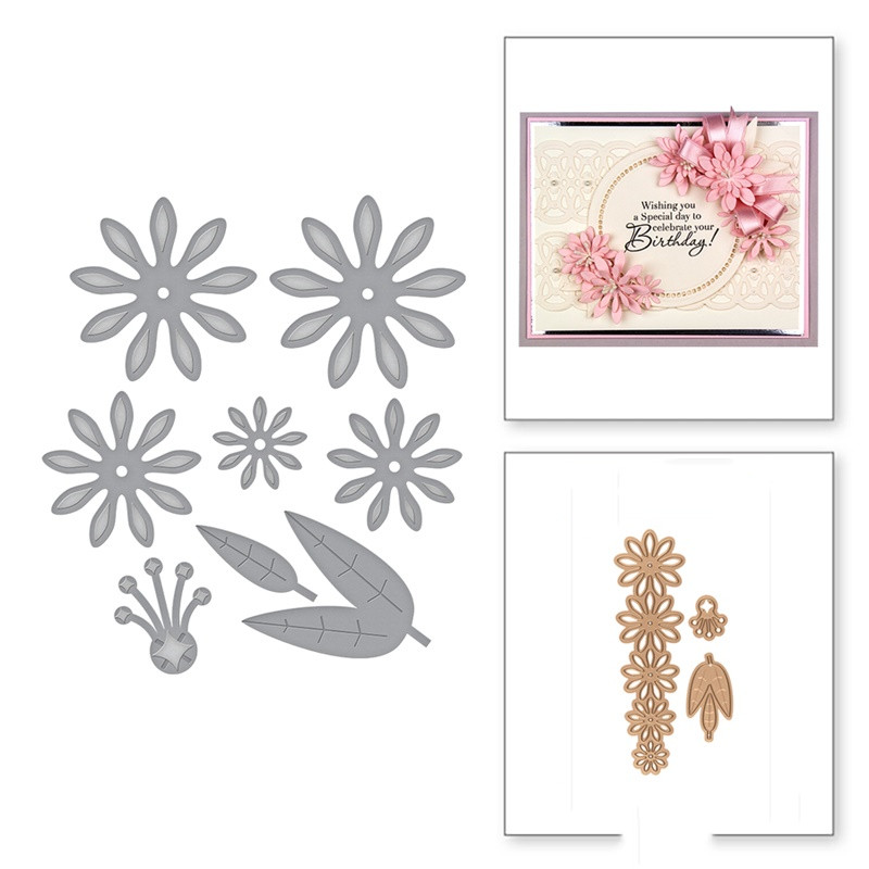 3D Flowers Leaves Metal Cutting Dies for Making Card Scrapbooking Embossing DIY Album Craft Decor New 2019 in Cutting Dies from Home Garden