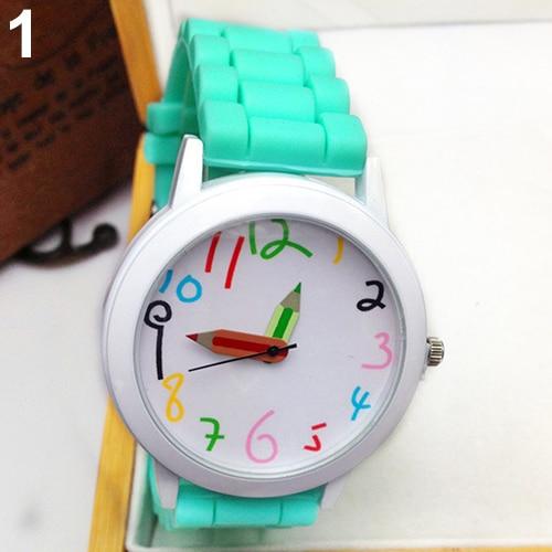 Fashion Unisex Student Wristwatch Silicone Strap Analog Quartz Wrist Watch Xmas