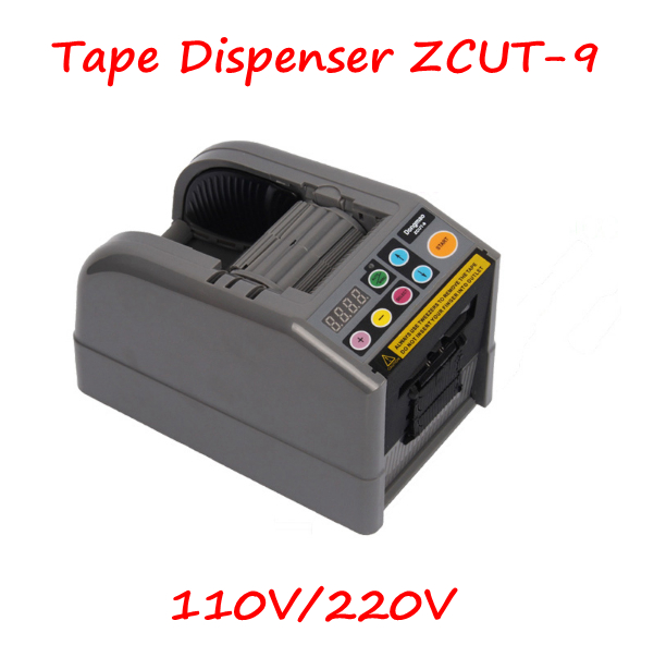 Automatic Tape Cutting Machine ZCUT-9 110V/220V Tape Dispenser Micro-computer Electronic Cutter with English Manual newest automatic tape dispenser tape cutter zcut 9 memory function