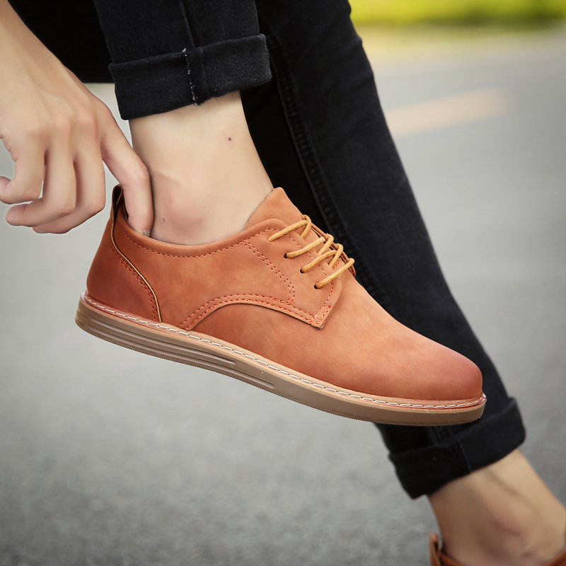 fashion leather casual shoes men comfortable leisure moccasins cheap dress male footwear work elegant boy oxford shoes for m (29)