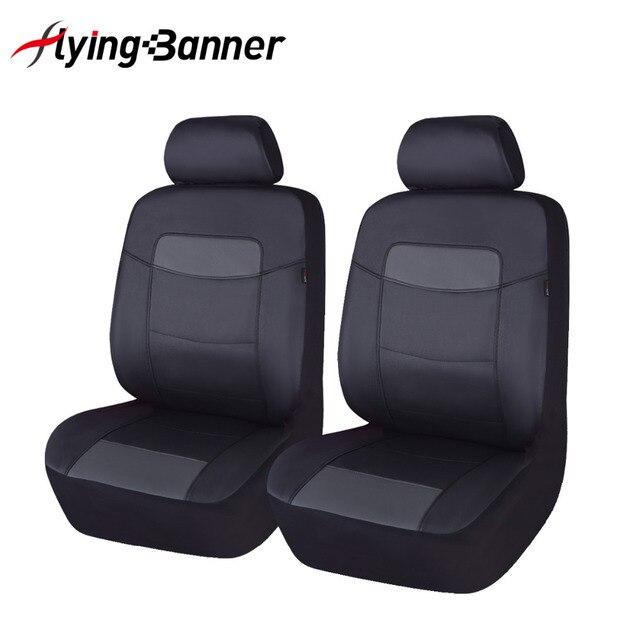 6 Kleurrijke Pu Leer Voor Autostoel Cover Fit Voor Universele Autostoel Auto Accessoires Auto Kussenhoes Zwart Grijs blauw