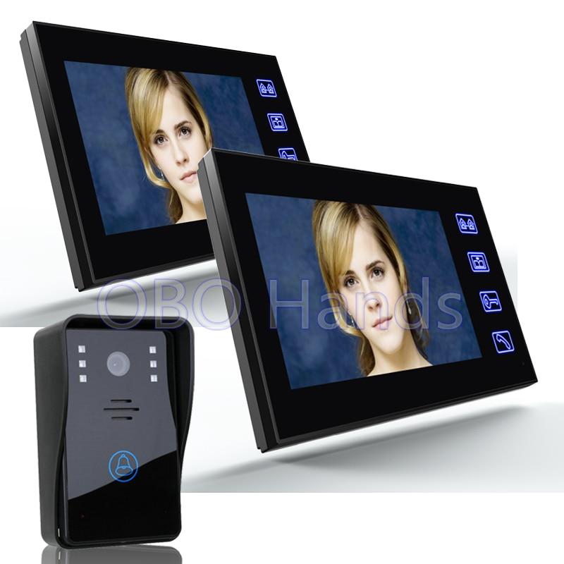 7 Color Video font b Door b font Phone Intercom System 2 Monitor Doorbell 1 font