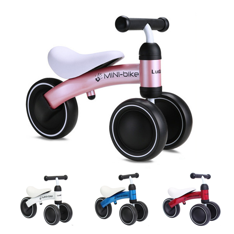 New Baby Walker Tricycle Riding Toys Children Three Wheel Balance Bike Scooter Baby Walker Portable Bike No Foot Pedal Bicycle new children three wheel balance car scooter foldable no foot pedal child swing car twist car baby walker tricycle riding toys
