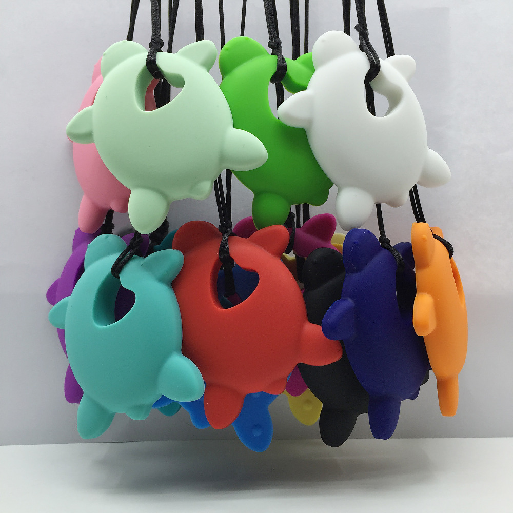 New large turtles silicone teething pendant or animal teether large turtles silicone teething pendant or animal teether necklace pendant safety silicone large lion baby teether toy in pendant necklaces from jewelry mozeypictures Gallery