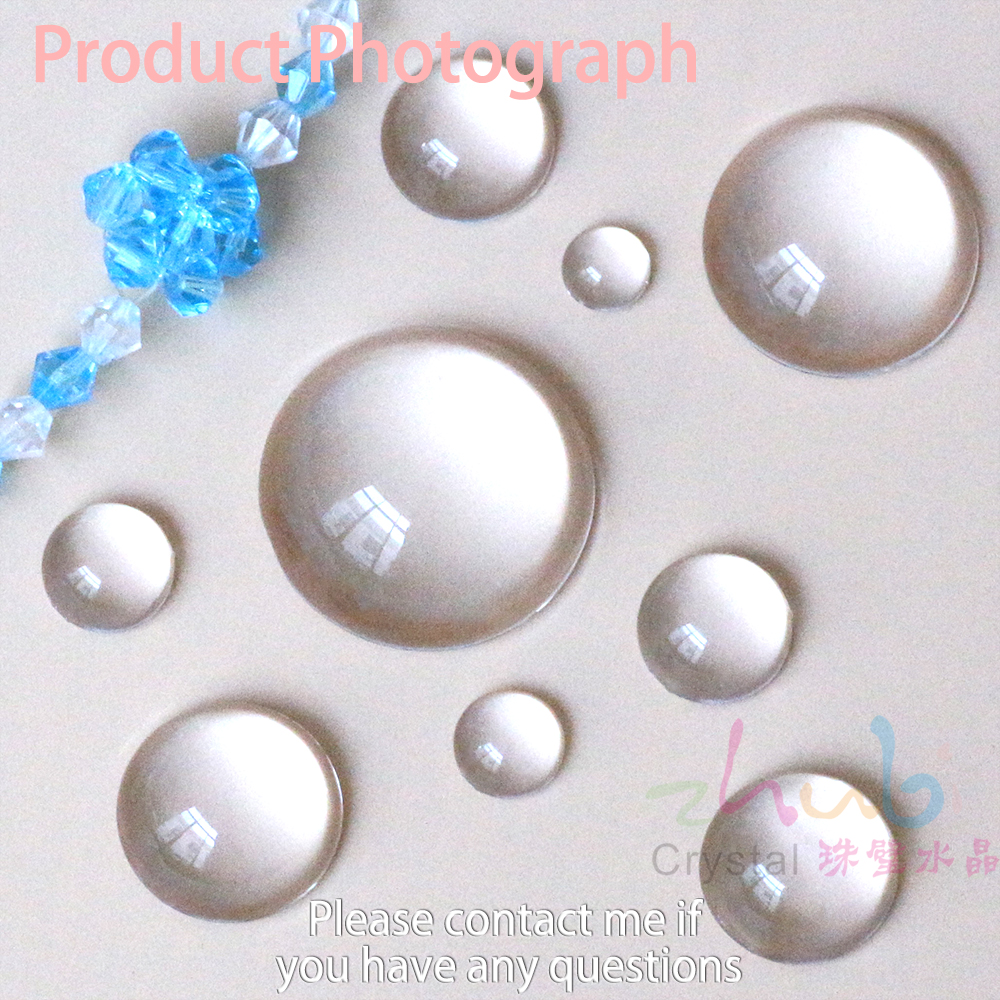 Jewelry Design Supplies Flat Bottom Clear Beads 8 50mm Hemispherical