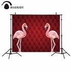 Allenjoy photography backdrop Flamingos tufted birthday decor vintage background photocall photo studio for a photo shoot