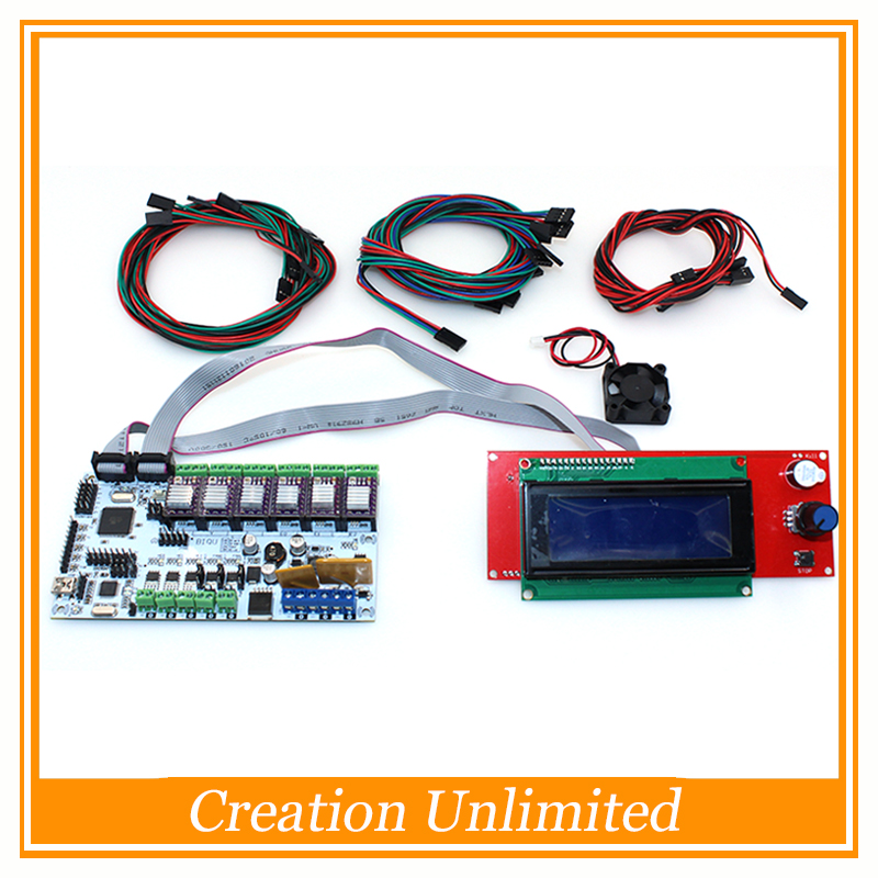 Lower price BIQU Rumba control board DIY+LCD 2004 controller display +jumper wire +DRV8825 Stepper driver for reprap 3D printer diy biqu rumba 3d printer rumba control board lcd 12864 controller display jumper wire a4988 driver for reprap 3d printer kit103