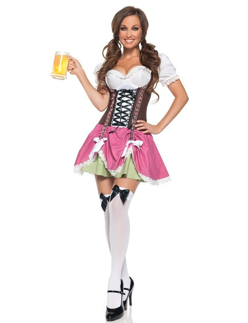 Traditional German Bavarian Beer Girl Costume Sexy Oktoberfest Festival Carnival Party Fancy Dress For Women