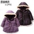 Осень зима дети верхняя одежда одежда для младенцев дети куртки пальто девочки узор в горошек пальто дети закрытый воротник парка