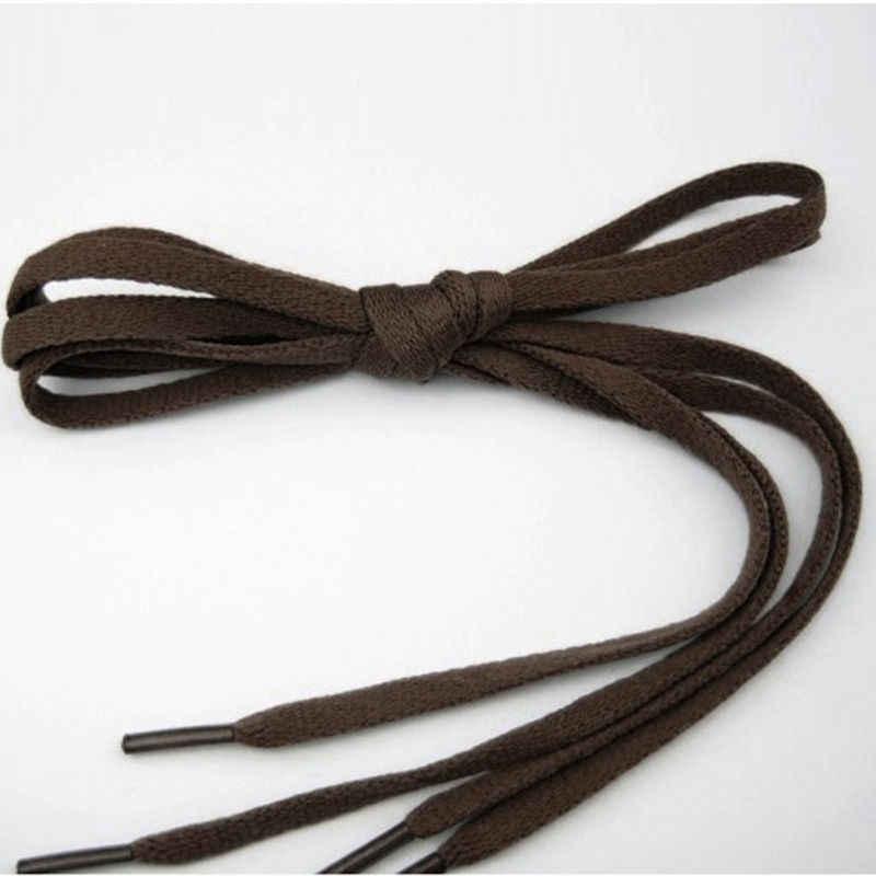 1 paire de lacets plats en polyester 6 couleurs 110 cm lacets pour baskets Sport femmes hommes chaussures lacets