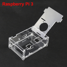 Raspberry Pi  Acrylic Clear Case Box Transparent Protective Cover Shell For Raspberry Pi 2 / 3 Enclosure Box