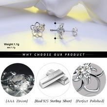 Strieborné náušnice MALÝ KVET 4farby Silver Stud Earrings FLOWER