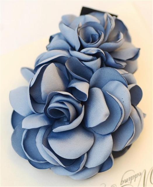 Fabric Artificial Flowers Hair Clip Flower Clips For Women Barrette Hair Pins Barette Accessories Accessoire Cheveux WIGO0583