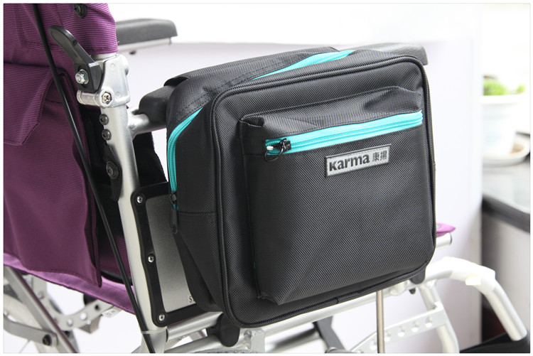 1x Luxury Wheelchair Bag Mesh Side Pocket Power Electric