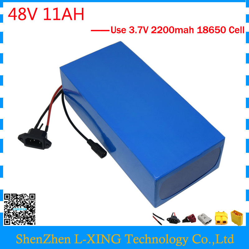 Free customs duty electric bike battery 48V 11AH 500W 700W ebike e scooter battery 48 V 11AH with 15A BMS 2A Charger free shipping customs duty hailong battery 48v 10ah lithium ion battery pack 48 volts battery for electric bike with charger