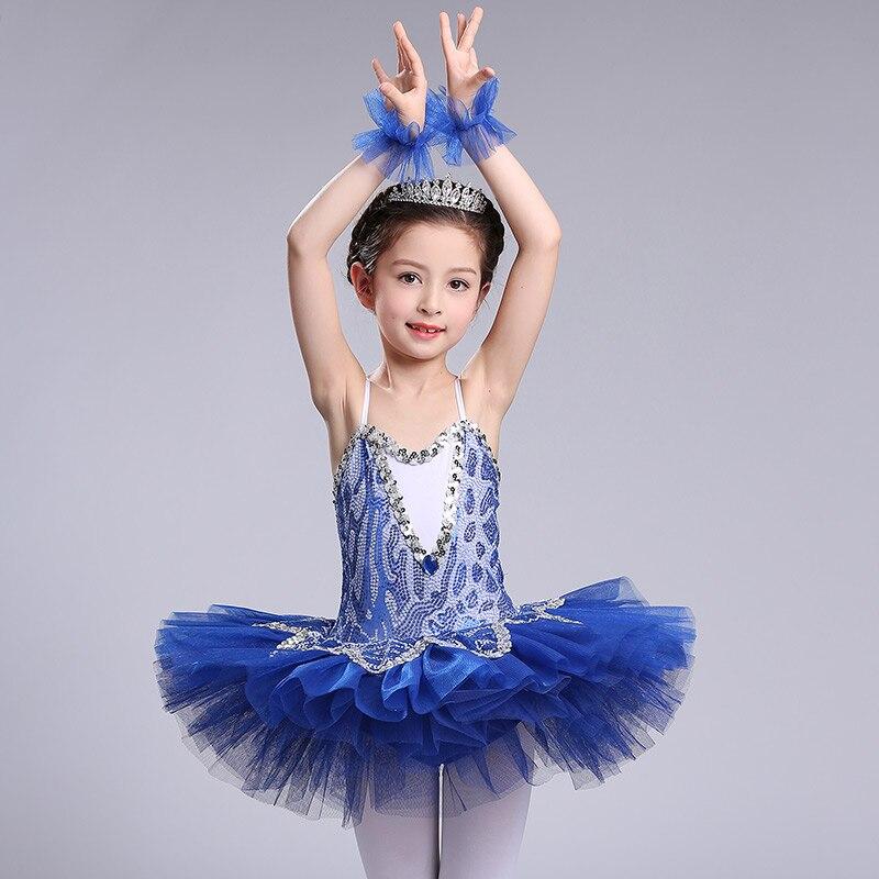 2017 Newest style Children Ballet Tutu Dress Swan Lake Multicolor Ballet Costumes Girls Ballet Dress for Children 3 colors
