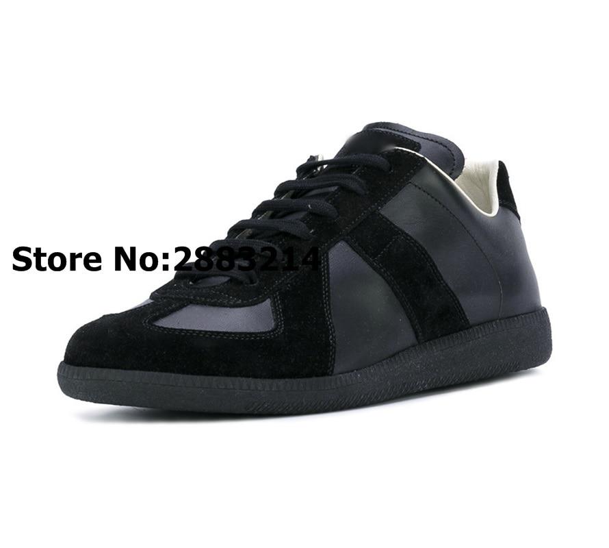 Patchwork Suede MANNEN Lage Top Sneakers Schoenen Ronde Neus Man Flats Outdoor Leisure Schoenen Ademend Trainers zapatos de hombre-in Casual schoenen voor Mannen van Schoenen op  Groep 2