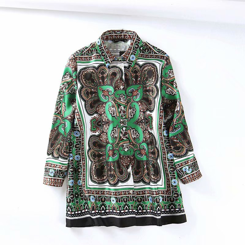 Vintage women floral print   blouse     shirts   2019 fashion ladies green bohemian top parties girls casual red   shirt   boho tops femme