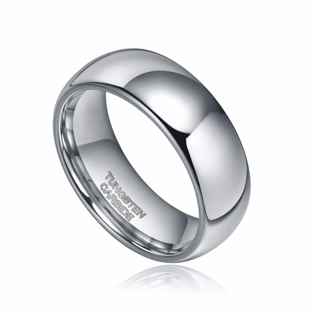 TIGRADE 6mm Classic High Polish Real Tungsten Ring Dome Engagement Jewelry Carbide Wedding Bands For Men Women Size 4 13 5 in Wedding Bands from Jewelry Accessories
