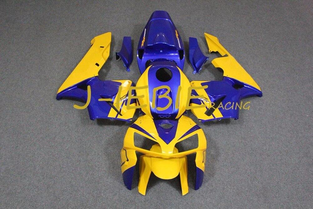 Yellow blue Injection Fairing Body Work Frame Kit for HONDA CBR600RR CBR 600 CBR600 RR F5 2005 2006