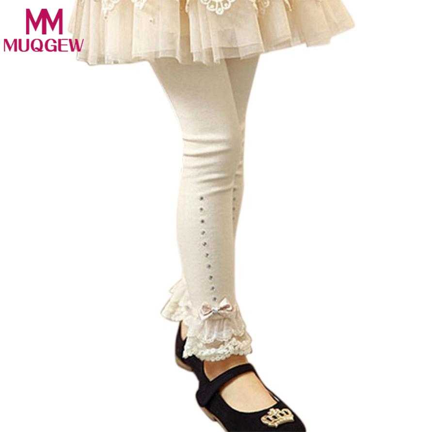9b9928c9772bd Detail Feedback Questions about 2018 Spring flower girl pants toddler baby  girl leggings children lace trim ruffle rhinestone trousers legging enfant  MUQGEW ...