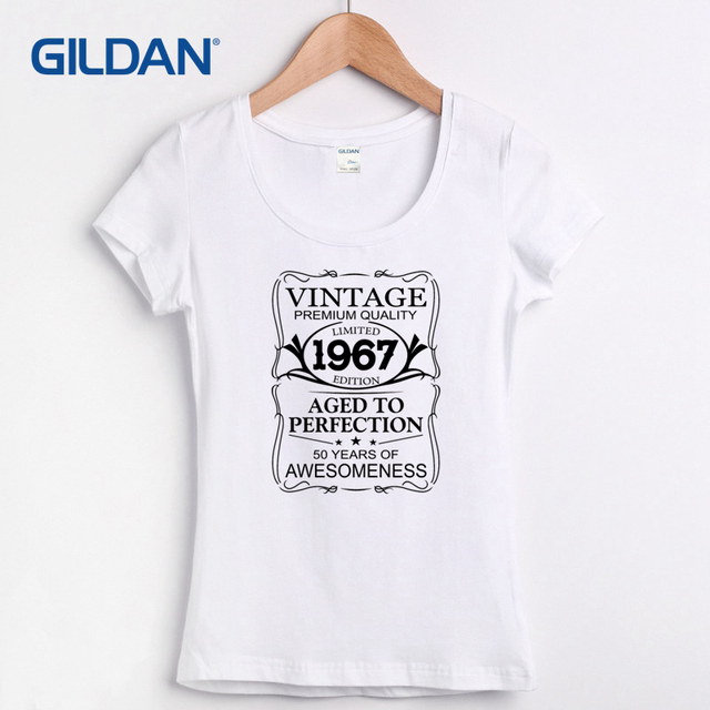 Top Female Tee Shirt 2017 Made In 1967 T Shirt Born 50th Year Birthday  NX09