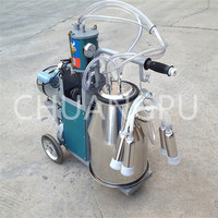 single bucket piston pump goat milking machine