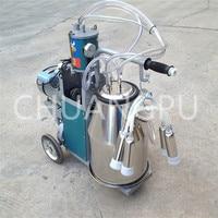 single bucket piston pump goat milking machine