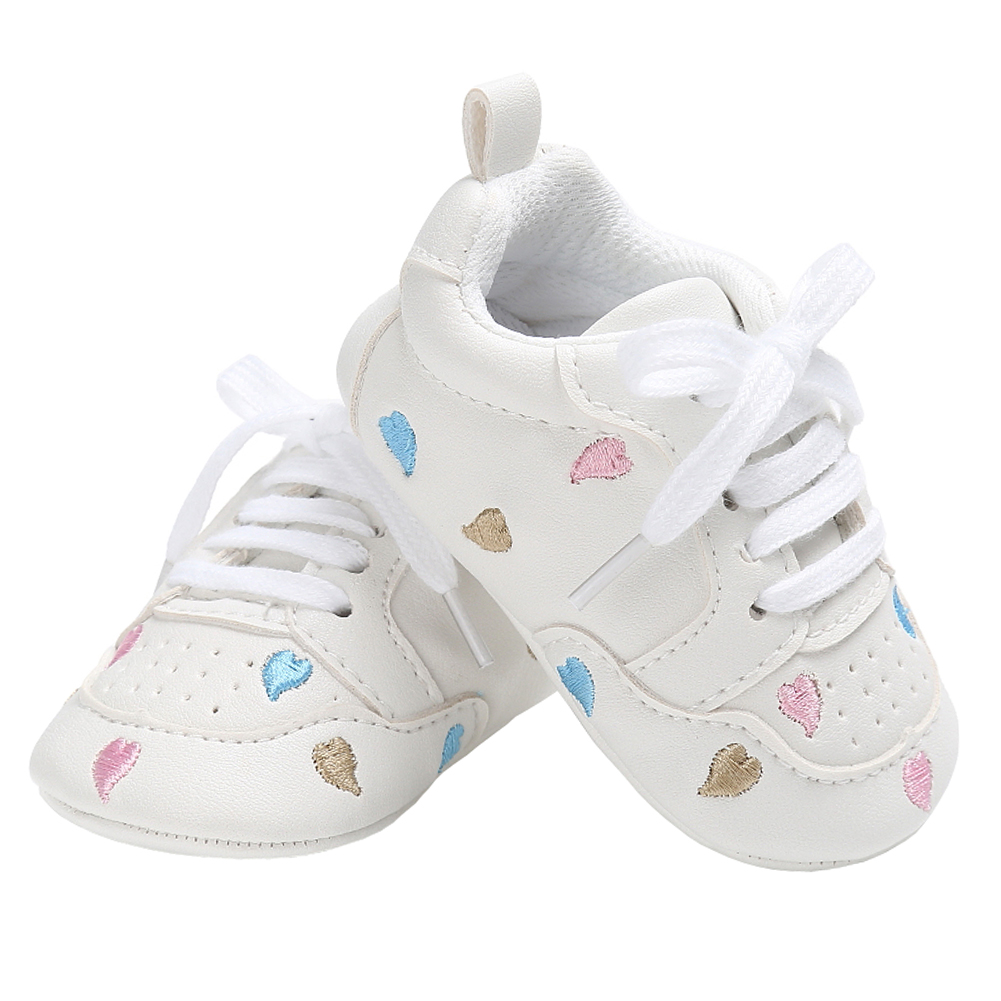 Baby Casual Shoes for Girls Sneakers Little Kid Flats Lace-up Newborn Home Gear Tenis Infantil Toddler Soft PU Leather Moccasins